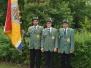 Neue Fahnengruppe / Jungschützen / Schützen der Vierten für die Königsscheibe